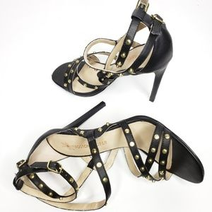Boston Proper Strappy Black Heels Stilettos Size 8